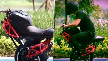 One Wheel Electric Bike: चिनी ई-कॉमर्स ग्रुप अलीबाबा ने लाँच केली 'वन व्हील इलेक्ट्रिक बाईक'; जाणून घ्या किंमत आणि खास स्पेसिफिकेशन्स