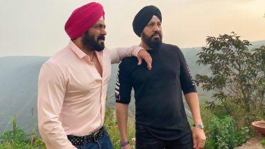 Salman Khan चा 'अंतिम: द फाइनल ट्रुथ ' मधील लूक व्हायरल, शूटिंग सेटवरील फोटोज आले समोर