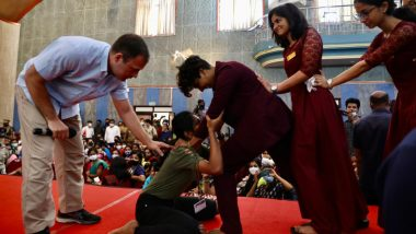 Rahul Gandhi Teaches Aikido: राहुल गांधी यांनी Kerala Assembly Elections 2021 प्रचारादरम्यान विद्यार्थ्यांना शिकवले अकिडो