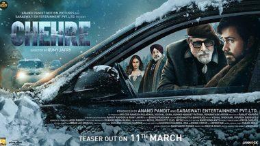 Chehre Poster: अमिताभ बच्चन यांच्या चेहरे सिनेमाचे नवे पोस्टर रिलीज; 'या' दिवशी टीझर होणार प्रदर्शित