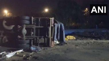 महाराष्ट्र: मुंबई-नाशिक एक्सप्रेस वे वर दोन ट्रकची एकमेकांना धडक,  दोन जण गंभीर जखमी