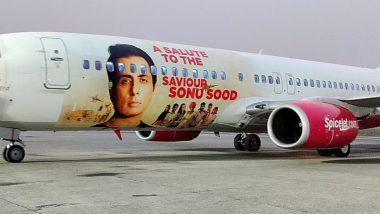 SpiceJet कडून Sonu Sood ने लॉकडाऊन दरम्यान केलेल्या कामाचा गौरव; Boeing 737 विमानावर झळकला अभिनेत्याचा फोटो