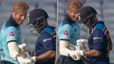 IND vs ENG 3rd ODI: शार्दुल ठाकूरने ठोकला शानदार षटकार, पाहून थक्क झालेल्या Ben Stokes ने चेक केली बॅट, पहा मजेशीर Video