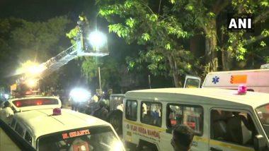 मुंबई पोलिसांकडून आग लागल्याच्या दुर्घटनेप्रकरणी भांडूप पूर्वेतील सनराईज रुग्णालयाच्या विरोधात FIR दाखल