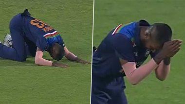 IND vs ENG 3rd ODI 2021: शिखर धवनने अचूक पकडला Ben Stokes चा कॅच आणि Hardik Pandya याचा जीव भांड्यात पडला (Watch Video)