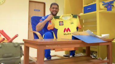 CSK Jersey for IPL 2021:एमएस धोनीने चेन्नई सुपर किंग्जच्या नवीन जर्सीचे केले अनावरण, सशस्त्र दलाला वाहिलीश्रद्धांजली (Watch Video)