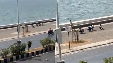 मास्क न घालणाऱ्यांना मुंबई पोलिसांकडून 'मुर्गा वॉक'ची शिक्षा (Watch Video)