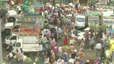 Nagpur Lockdown: नागपूरच्या कॉटन मार्केट मध्ये सोशल डिस्टंसिंगचा फज्जा; 15 मार्चपासून कडक लॉकडाऊन