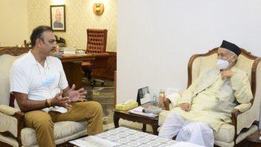 Ravi Shastri टीम इंडियाचे कोच, क्रिकेटर राज्यपाल Bhagat Singh Koshyari यांच्या भेटीला मुंबईत राजभवनावर दाखल