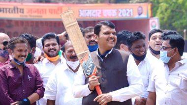 'युपीएचा कॅप्टन बदला हे सोळावा गडी म्हणतोय' शरद पवारांनी UPA चं नेतृत्व करावं या शिवसेना खासदार संजय राऊत यांच्या वक्तव्यावर देवेंद्र फडणवीस यांनी क्रिकेटच्या मैदानातून 'असा'  लगावला टोला