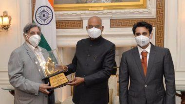 SII च्या Dr Cyrus S. Poonawalla आणि Adar Poonawalla यांनी घेतली President Ram Nath Kovind यांची राष्ट्रपती भवनात भेट