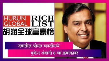 Hurun Global Rich List 2021: देशाला मिळाले 40 नवीन अब्जाधीश; Mukesh Ambani ठरले जगातील सर्वात श्रीमंत आठव्या क्रमांकाची व्यक्ती