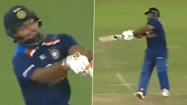 IND vs ENG 1st T20I: वाह रे वाह! Rishabh Pant याच्या 'त्या' लाजबाव शॉटवर Netizens फिदा, पहा पंतचा अफलातून स्वीप सिक्सर (Watch Video)