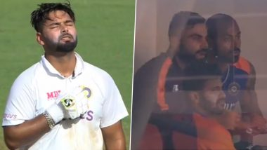 IND vs ENG 4th Test 2021: Rishabh Pant याने ठोकलेखणखणीत शतक,ड्रेसिंग रूममधून धावून येत Virat Kohli ने दिली सर्वांचं मन जिंकणारी रिअक्शन (Watch Video)