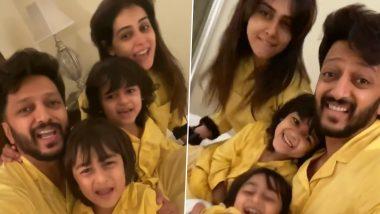 Riteish-Genelia Deshmukh यांनी आपल्या मुलांसमवेत घरात राहून हटके अंदाजात दिल्या रंगपंचमीच्या शुभेच्छा, Watch Video