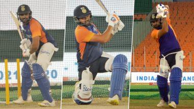 IND vs ENG 1st T20I: टी-20 मालिकेसाठी 'हिटमॅन' Rohit Sharma याने बदलला गियर, नेट्समध्ये लगावले जोरदार शॉट्स, पहा व्हिडिओ