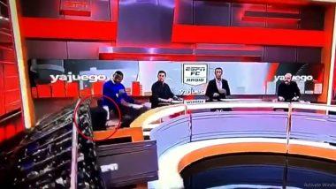 ESPN पत्रकाराच्या अंगावर कोसळला स्टुडिओ सेट; Live Show दरम्यान घडली दुर्घटना (Watch Video)