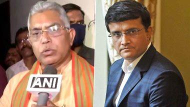 पश्चिम बंगाल येथे 7 मार्चला होणा-या PM Modi च्या मेळाव्यात माजी क्रिकेटपटू सौरव गांगुली भाजपमध्ये प्रवेश करणार? दिलीप घोष यांनी दिली 'ही' प्रतिक्रिया