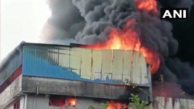 Asangaon Fire:  ठाण्यातील आसनगाव मध्ये प्लॅस्टिक फॅक्टरीला भीषण आग; 12 फायर इंजिन घटनास्थळी दाखल