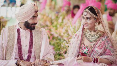 अखेर Jasprit Bumrah अडकला विवाहबंधनात, Sanjana Ganesan शी बांधली लग्नगाठ (See Photos)