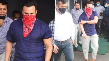Saif Ali Khan ने घेतला कोविड-19 लसीचा पहिला डोस; पहा Photos