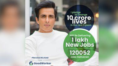 बॉलिवूड अभिनेता Sonu Sood देणार 1 लाख लोकांना नोकरी; 10 कोटी तरुणाचं भविष्य बदलवण्याचा केला दावा, जाणून घ्या काय आहे संपूर्ण प्लान