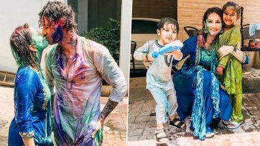 Sunny Leone आणि Daniel Weber ने शेअर केले प्रेमाचे रंग; रंगपंचमीला किस करतानाचारोमँटिक फोटो व्हायरल ( See Photo )