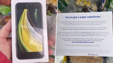 OMG! ऑनलाइन ग्रॉसरी वेबसाइट Tesco वर ग्राहकाने मागवले सफरचंद; डिलिव्हरीत आला Apple iPhone