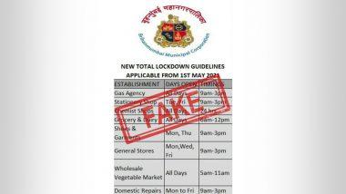 Fact Check: 1 मे पासून लॉकडाऊन ची नवी नियमावली जारी? व्हायरल होणाऱ्या मेसेजचे BMC ने दिले स्पष्टीकरण