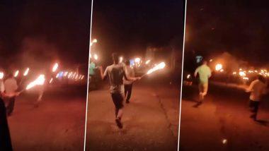 Madhya Pradesh: अंधश्रद्धेचा कळस! कोरोनाला पळवण्यासाठी 'भाग कोरोना भाग' म्हणत रात्रीच्या अंधारात मशाल घेऊन ग्रामस्थांची दौड (Watch Video)