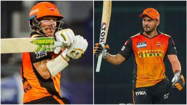 CSK vs SRH IPL 2021: मनीष पांडे-डेविड वॉर्नरचा अर्धशतकी धमाका, हैदराबादचे चेन्नईला विजयासाठी 172 धावांचं आव्हान