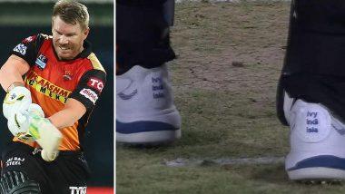 IPL 2021: David Warner ने सामना गमावला पण मन जिंकलं, CSK विरोधात SRH कर्णधार असे बूट घालून मैदानावर उतरला, पहा व्हायरल Photo