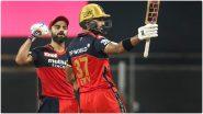 IPL 2021 RCB vs CSK Match 35: शारजाहमध्ये पडिक्क्ल-विराटचे वादळी अर्धशतक, आरसीबीचे चेन्नईला विजयासाठी 157 धावांचे आव्हान