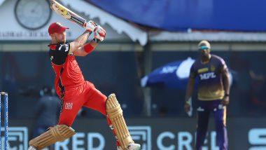 RCB vs KKR IPL 2021 Match 10: Glenn Maxwell, एबी डिव्हिलियर्स यांची जबरा फलंदाजी, आरसीबीने केला 204 धावांचा डोंगर; नाईट रायडर्सपुढे कठीण टार्गेट