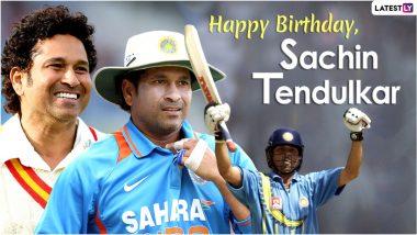 Sachin Tendulkar Birthday Wishes & HD Images: मास्टर-ब्लास्टरच्या48व्या वाढदिवसानिमित्त शुभेच्छा देण्यासाठी खास मराठी संदेश, Greetings व HD फोटो!