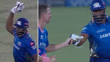 MI vs RR IPL 2021: जा..जा..जा! बाउन्सर हेल्मेटला लागल्यानंतर Kieron Pollard च्या मजेदार रिअक्शनच्या चाहतेही पडले प्रेमात, पहा Video