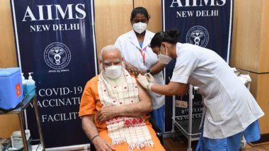 COVID19 Vaccine: पंतप्रधान नरेंद्र मोदी यांनी COVAXIN कोरोनालसीचा दुसरा डोस घेतला