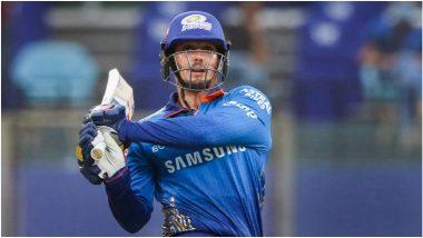 MI vs RR IPL 2021 Match 24:Quinton de Kock ची स्फोटक बॅटिंग, मुंबईची राजस्थानवर 7 विकेटने मात