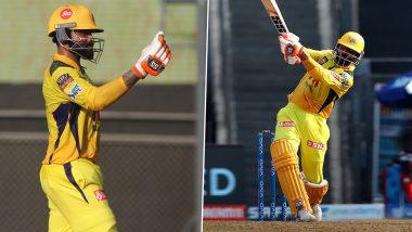CSK vs RCB IPL 2021 Match 19: Ravindra Jadeja ने Harshal Patel च्या एका ओव्हरमध्ये केला 5 षटकारांचा वर्षाव, युनिव्हर्स बॉसच्या विक्रमाची केली बरोबरी