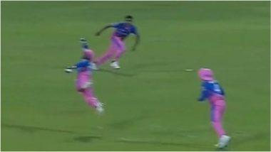 RR vs RC IPL 2021: हवेत इंच उडी घेऊन Sanju Samson ने एका हाताने पकडला अविश्वसनीय कॅच, पाहून व्हाल फॅन (Watch Video)