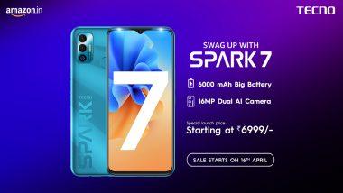 Tecno Spark 7 भारतात लाँच, जाणून घ्या 6000mAh इतकी दमदार बॅटरी असलेल्या या स्मार्टफोनची किंमत
