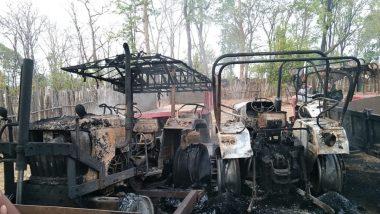 गडचिरोली मध्ये नक्षलांकडून 4 ट्रॅक्टर, 2 टॅंकर्सना आग; Permili भागातील घटना