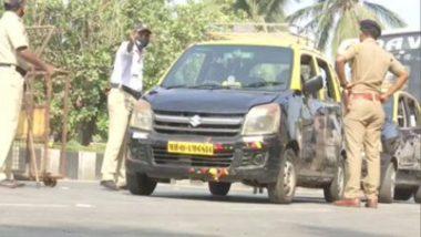 Mumbai: Weekend Lockdown दरम्यान पोलिसांकडून मरीन ड्राईव्हजवळील वाहनांची तपासणी, पहा फोटो