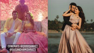 Sugandha Mishra आणि  Sanket Bhosale अडकले लग्नबंधनात; पहा खास फोटो