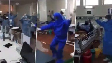 Covid-19 रुग्णांना cheer करण्यासाठी आरोग्य सेवकांचा PPE कीट घालून भांगडा; पहा Viral Video