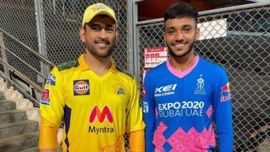 IPL 2021: राजस्थानचा गोलंदाज चेतन सकारियाने महेंद्रसिंह धोनीचे मानले आभार, सोशल मीडियावर केली 'अशी' पोस्ट