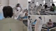रुग्णांचं मनोबल वाढवण्यासाठी डॉक्टरांनी PPE Kit मध्ये केला डान्स; पहा Viral Video