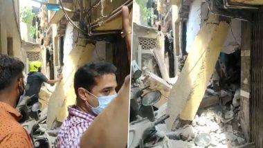 उल्हासनगरमध्ये इमारतीचा स्लॅब कोसळला, इमारतीतून नागरिकांना बाहेर काढण्याचे काम सुरू