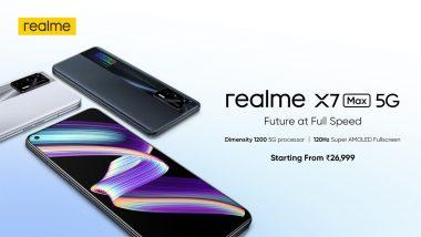 Realme X7 Max 5G अखेर भारतात लाँच, 64MP कॅमेरा असलेला हा स्मार्टफोन 'येथे' होणार ऑनलाईन विक्रीसाठी उपलब्ध