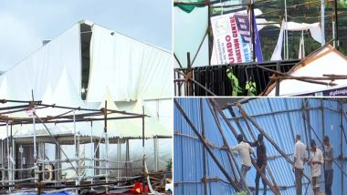 Cyclone Tauktae चा मुंबई मधील  BKC COVID Care Centre ला देखील फटका; किरकोळ पडझड (See Pics)